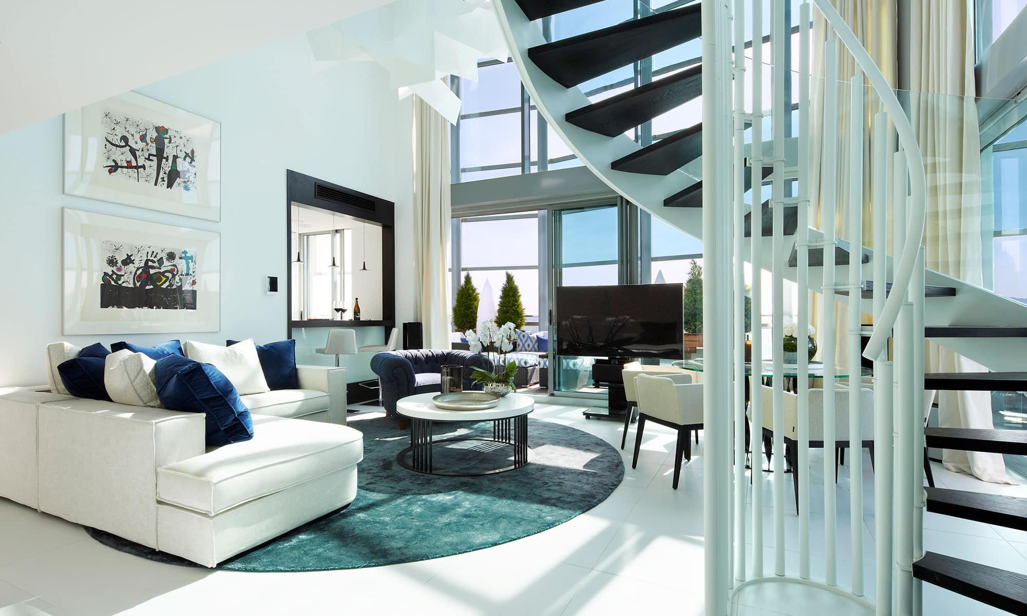 Interiores de casas de lujo, mobiliario de lujo, decoración de apartamentos de lujo