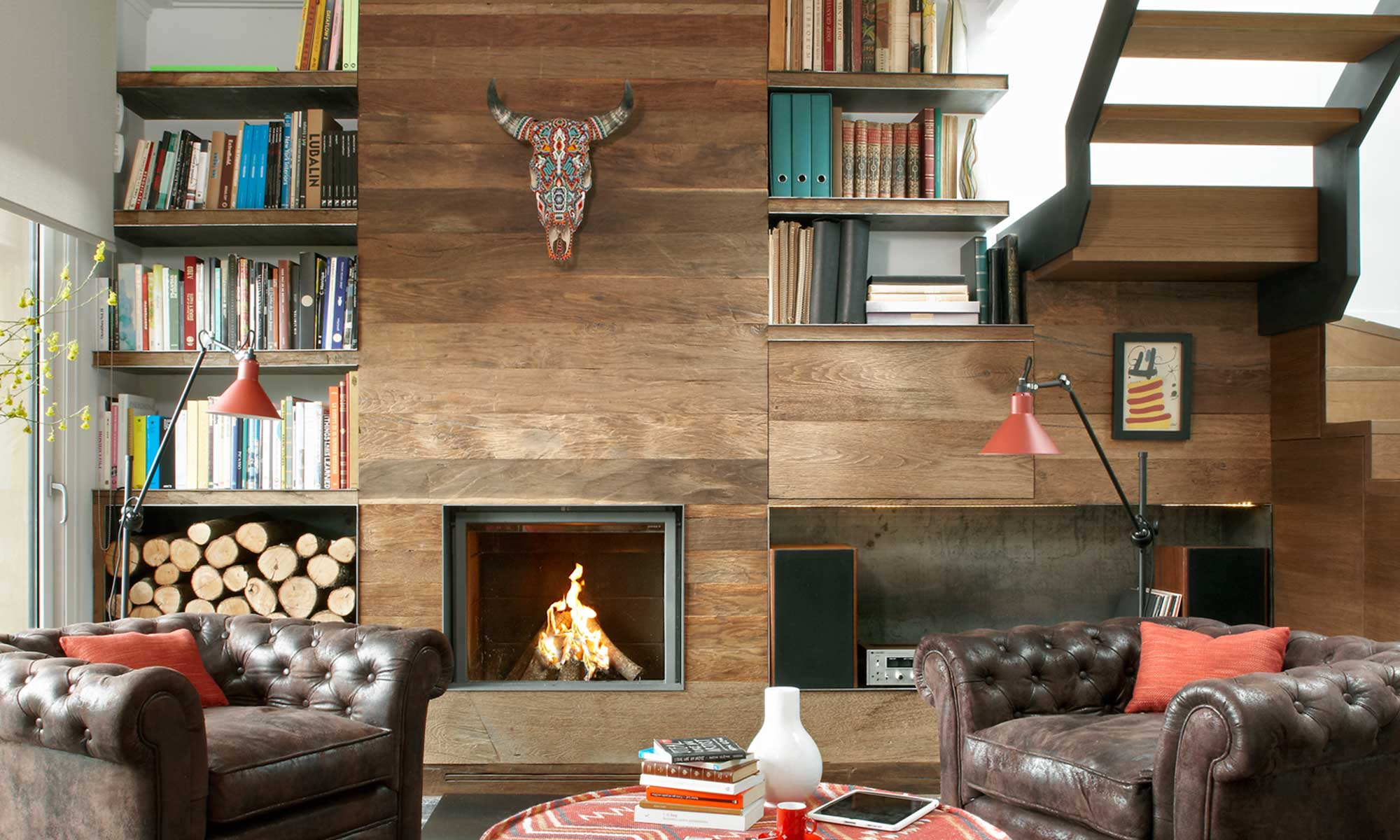 Fireplaces design livingroom | Molins design interior design
