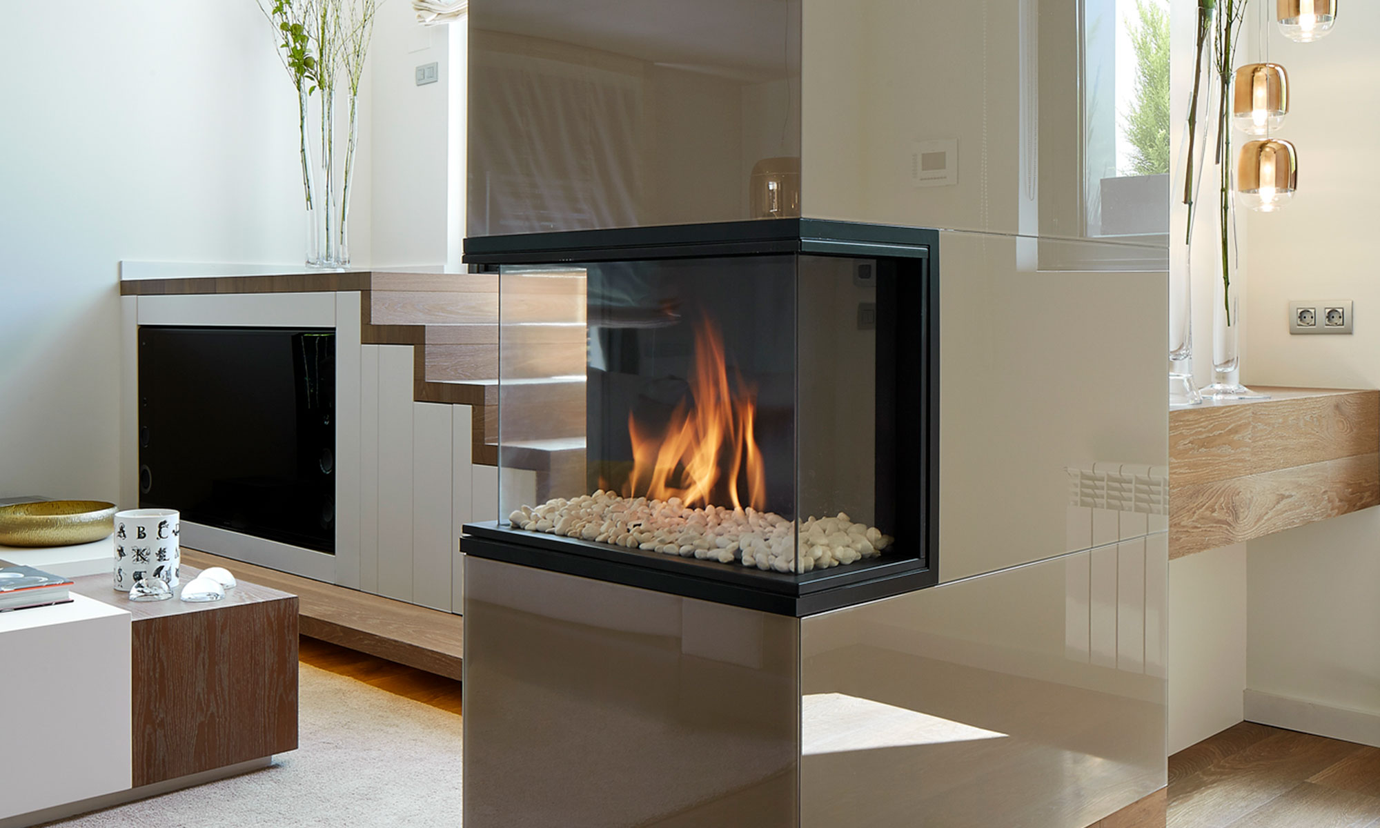 Fireplace design column | Molins Design interior design